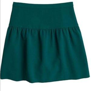 J CREW Crepe Flounce Skirt Career Drop Waist